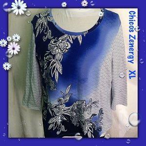 Chico's Zenergy / Sz 3 - XL / Pullover Cotton Top